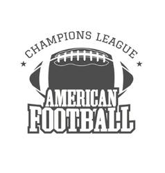 American football champions league badge logo vector image vector image