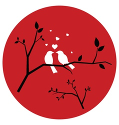 Couple of Love Birds vector image