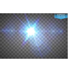 Creative concept set of glow light effect stars vector
