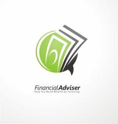 Financial adviser logo design vector image