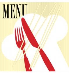 menu card pasta vector image vector image