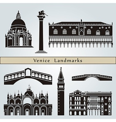 Venice landmarks and monuments vector image