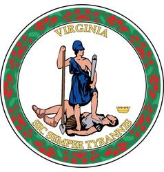 Virginia seal vector image