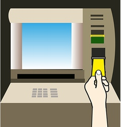 ATM money withdraw background vector image vector image