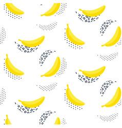 Banana pop art seamless pattern on white vector