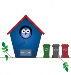 bird recycle vector image vector image