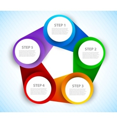 Colorful circles diagram vector image