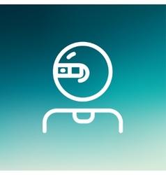 Computer web camera thin line icon vector image