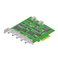 computer electronic circuit board component pc vector image