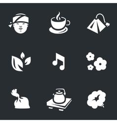 Icons Set of Tea ceremony vector image