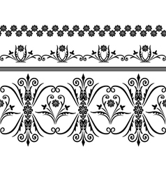 seamless pattern with swirling decorative elements vector image vector image