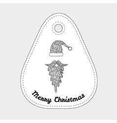 Accessories Santa Claus - hat and beard Christmas vector image
