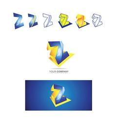 Alphabet letter z logo icon vector image