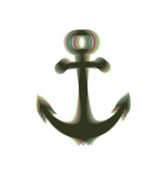 Anchor icon colorful icon shaked with vector