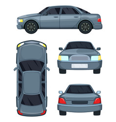 Automobile top side front vector