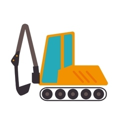 Backhoe construction machinary icon vector