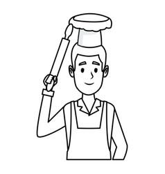 Bakery baker cartoon vector
