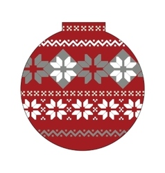 Ball with nordic pattern vector