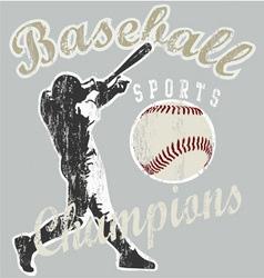 Baseball champions vector