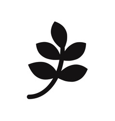 branch with leaves icon vector image
