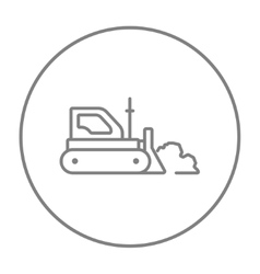 Bulldozer line icon vector image