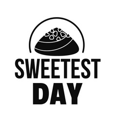 Caramel sweet day logo simple style vector