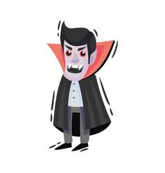 Cartoon vampire with fangs on vector
