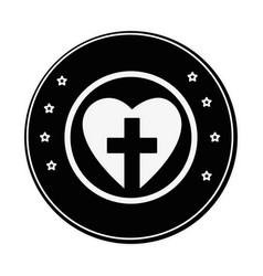 Christian cross symbol vector