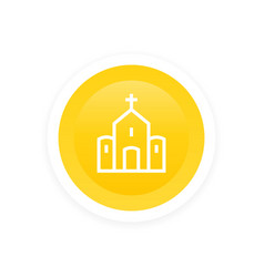 church catholic temple linear icon vector image