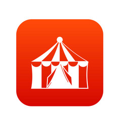 circus tent icon digital red vector image