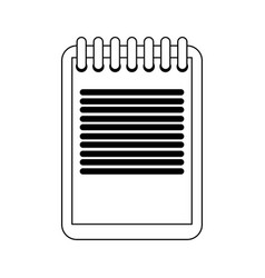 clipboard document symbol in black and white vector image
