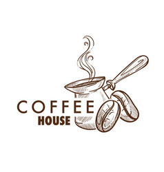 Coffee house cafe or cafeteria isolated icon vector