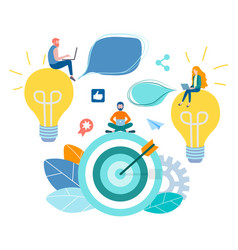 concept of achieving the goal hitting the top vector image