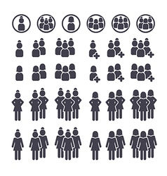 connected people icons vector image