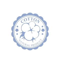 Cotton Blue Product Logo Design vector image