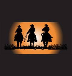 Cowboy on background vector