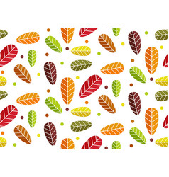 cute autumn leaves pattern vector image