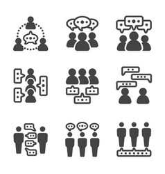 dialogue people icon vector image