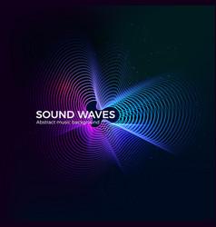 dynamic radial sound equalizer design music album vector image