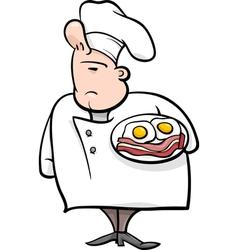 english chef cartoon vector image vector image