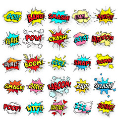 Exclamation texting comic signs on speech bubbles vector