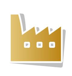 Factory sign golden gradient vector