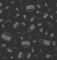 fast food beverage seamless pattern vector image