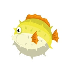 Fish sea life animal icon graphic vector