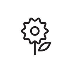 flat line flower icon logo element flower design vector image