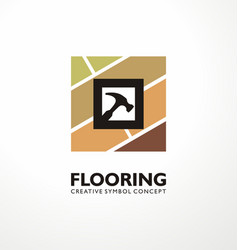 flooring logo design concept vector image
