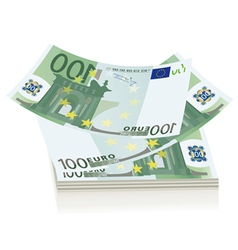 flying euro bills vector image