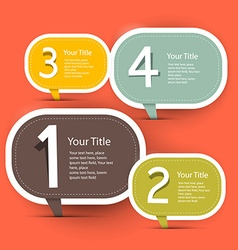 Four Steps Infographic Layout - Template in Retro vector image vector image