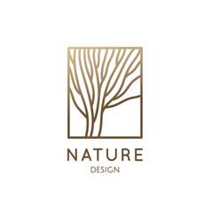 garden round emblem vector image