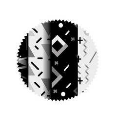 Grayscale circle with graphic style abstract vector